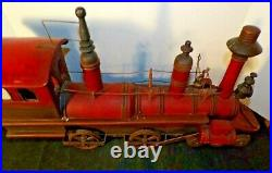 Vintage Large Collectible Hand Crafted Wood And Metal Steam Locomotive/Train