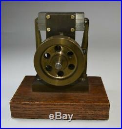 Vintage Live Steam Engine Machinist Made Machine Age Desk Model Kinetic Toy