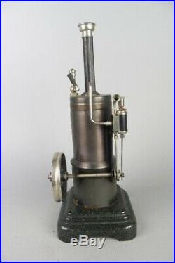 Vintage MARKLIN vertical live steam engine, prewar tin toy