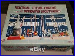 Vintage MARX Line-Mar Toy Vertical Steam Engine + 3 Machines Machine Shop