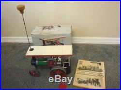 Vintage Mamod Green Traction STEAM ENGINE TRACTOR With Box