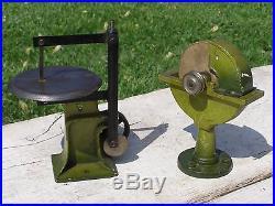 Vintage Marklin Germany Steam Engine & Jig Saw Pulleys Grinding Wheel Oil Can