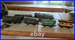 Vintage Marx O Tin Train Set LItho Steam Engine Toy RR 1950's Electric Track San