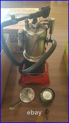Vintage Marx Vertical Steam Engine With Grinding Stone Buffer & Power Saw J-5322