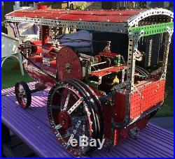 Vintage Meccano Traction Steam Engine