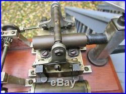 Vintage Miniature Mechanical Twin Cylinder Toy Steam Engine