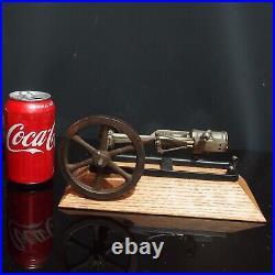 Vintage Model Of A Single Cylinder Horizontal Steam Engine