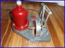 Vintage Old KJ Miller JUNIOR ENGINEER Model 100 Vertical Toy Steam Engine