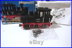 Vintage PLAYMOBIL SYSTEM Steam Engine TRAIN #4051 WithBOX & PAPERWORK