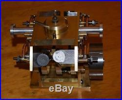 Vintage Running V-4 Steam Engine Four Cylinder marine model boat ship rc scale