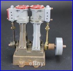 Vintage STUART Turner Twin 2 Double Cylinder Toy Model Live Real Steam Engine NR