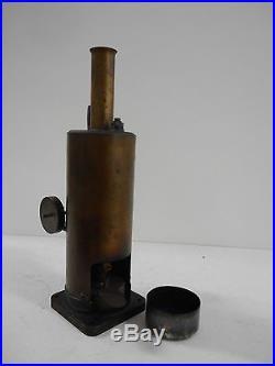 Vintage Scratch Built Solid Brass Steam Engine In Working Order