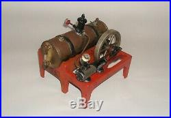 Vintage Steam Engine Weeden Model Display Hobby Toy