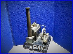 Vintage TOY STEAM ENGINE 1860s with acceseries Doll