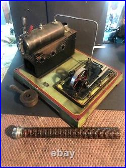 Vintage Tin plate steam engine, c1910 by DC