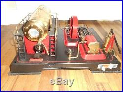Vintage WILESCO D21 Dampf-Maschine Live Steam Engine Toy in Box NOS NEVER USED