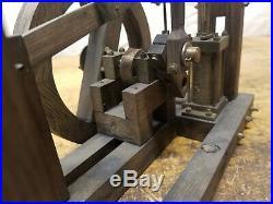 Vintage Walking Beam Steam Engine Model Toy Wood Brass Oil Field