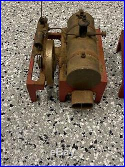 Vintage Weeden Cast Iron Brass Steam Engine Boiler Toy Lot (2)