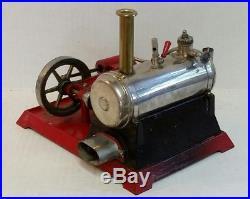Vintage Weeden Electric Toy Steam Engine N0. 670 Brass Boiler Cast Iron Base