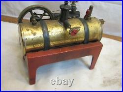 Vintage Weeden Model 14 Steam Engine Brass Iron Toy with Decal
