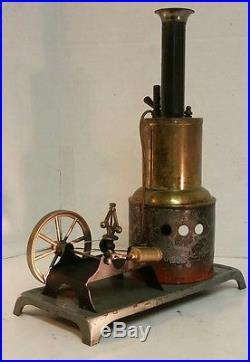 Vintage Weeden Vertical Steam Engine With Governor, Whistle Brass Boiler, 10