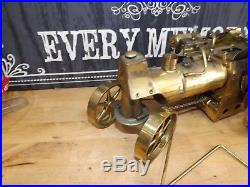Vintage Wilesco Brass Old Smokey Steam Engine D-367 Roller Made Germany-nice