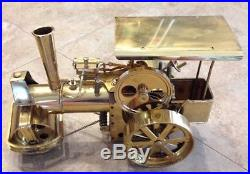 Vintage Wilesco Brass Old Smokey Steam Engine #d-367 Roller Made Germany-nice