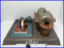 Vintage Wilesco D28 Live Toy Steam Engine Model Rare 110V Version