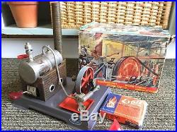 Vintage Wilesco D5 Steam Engine Toy S R & Co. W. Germany with Box & Instructions