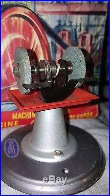 Vintage Wilesco D-10 German Toy Steam Engine + 2 working accessories SAW & GRIND