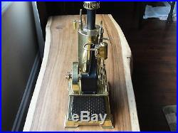 Vintage Wilesco Dampfmaschine D456 Steam Engine With Fuel Instructions & Box EX