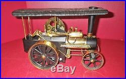 Vintage Wilesco Germany, traktor brass live steam engine tractor