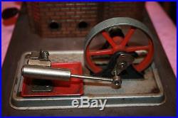 Vintage Wilesco Horizontal Steam Engine W Platform & Wheel Piston