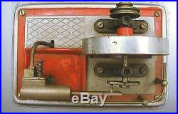 Vintage Wilesco Live Steam Engine Model D12 Machine Antique Toy with Box Plus