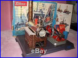 Vintage Wilesco Live Steam Engine Model D8 Machine withBox Plus Extras