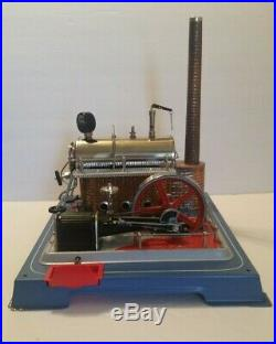 Vintage Wilesco Model D20 Live Steam Engine Toy Works Great