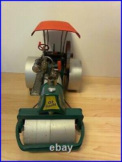 Vintage Wilesco Old Smokey Steam Roller West Germany Toy Steam Engine