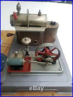 Vintage Wilesco Steam Engine Workshop Table Saw Shop Tools Germany, toy model