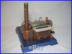 Vintage Wilesco Toy Horizontal Steam Engine