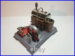 Vintage Wilesco Toy Steam Engine And Boiler Made In Germany Working