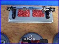 Vintage Wilesco Toy Steam Engine Gray Base M51 Drill Press M53 Saw M52 Grinder