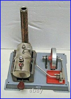 Vintage Wilesco Toy Steam Engine Model Made In Germany + Boiler, Burner, Chimney