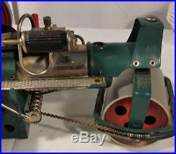 Vintage Wilesco West Germany Metal Steam Engine Roller Old Smoky