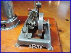 Vintage Wood-Base Jensen Model 30 Steam Engine Dampfmaschine