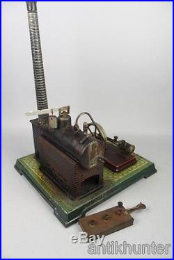Vintage bing nuremberg steam engine, pre war german tin toy