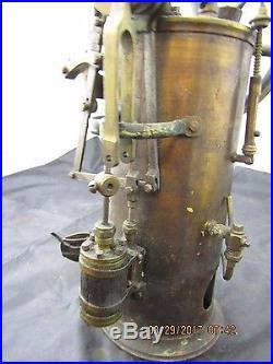 Vintage brass detailed steam engine