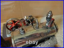 Vintage diecast model Wilesco D10, working steam engine set with fly-ball governor