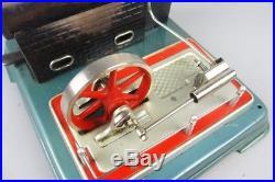 Vintage fleischmann 120/4 live steam engine, tin toy made in western germany