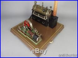 Vintage fleischmann 130/2 live steam engine, tin toy made in western germany