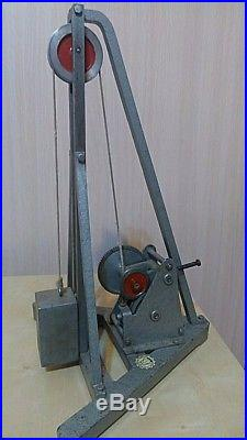 Vintage metal toy model press steam engine hammer huge art deco loft